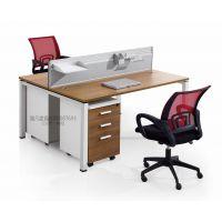 银川办公桌 雅凡家具厂家定制批发现代钢架组合办公室员工桌隔断