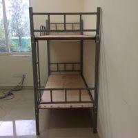 厂家出售双层铁床上下铺铁架床高低子母床公寓高架床单层铁床