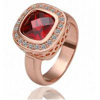 厂家直销夸张个性外贸欧美风水晶戒指  速卖通热卖镂空女王指环