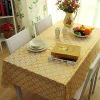 塑料桌布餐布桌布台布食品级PVC中式防水立体压花太阳花烫金