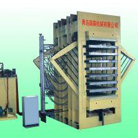 供应青岛国森机械制造人造板机械设备1200T8-15层刨花板压机设备