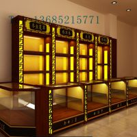 设计 专业定做参茸展柜 保健品展示柜 药房药店展示架
