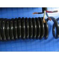 0.5平方螺旋线 6芯弹簧线 (全铜) 高弹力PU线卷 拉伸3米