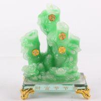 新款仿玉竹子财富节节高摆件 树脂工艺品 礼品定制 创意礼品1893