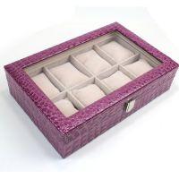【将作监】定制高档手表盒 高贵蛇纹透明天窗8位手表盒 手镯盒