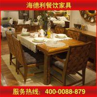 供应新古典餐厅家具 餐厅实木餐桌 大理石圆桌 酒店茶几 厂家定