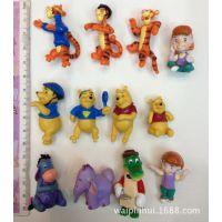 散货迪士尼正版维尼熊跳跳虎小飞象微景观小公仔2元扭蛋玩具公仔