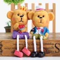 树脂吊脚娃娃 树脂对熊电表箱摆件 工艺装饰品熊宝宝 2色混