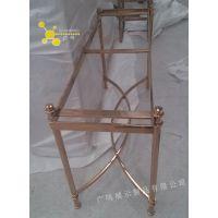 定制不锈钢玫瑰金桌子 电镀各种颜色