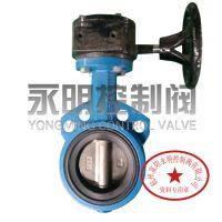 供应D371X不锈钢手动涡轮衬胶蝶阀