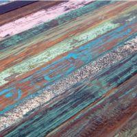 新品推荐 美式多色复古实木餐桌 海德利商用会客餐桌椅组合