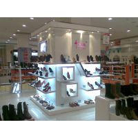 济南鞋柜展示架定做鞋架设计效果图木质烤漆展示架定做