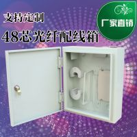 移动联通电信宽带ftth48芯壁挂式光纤配线箱室外防水光纤分纤箱 可定做各种规格