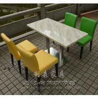 松岗茶餐厅餐桌西餐厅包厢圆桌石英石餐桌尺寸颜色可选