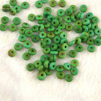 批发天然优化绿松石2.5*6mm 算盘珠散珠佛珠散珠