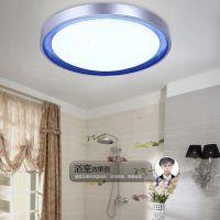 圆形LED吸顶灯 现代简约亚克力卧室灯客厅灯阳台厨卫餐厅灯具