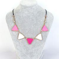 几何项链 合金项链 宝石项链 毛衣链 三角项链 五角项链