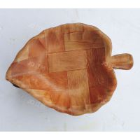 江桥竹藤生态装饰工艺品厂定做日韩式外贸出口原生态木制沙拉碟