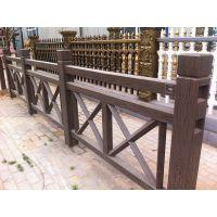 供应郑州天艺交叉X型仿木护栏,河堤桥梁护栏、水泥栏杆、塑料模具