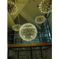 新款led球餐厅灯 圆形吊灯 LED烟火星球餐厅灯 圆吊灯 创意简约吊灯