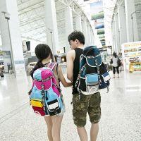 木村井泓新款多口袋帽子包男女旅行背包双肩包女中学生电脑书包潮