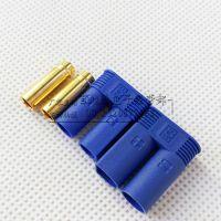 EC5香蕉接线端子 蓝壳纯铜镀金EC5接线端子