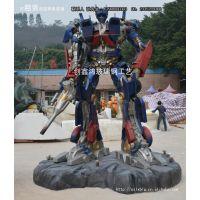 厂家直销变形金刚机器人 广场大型玩具 大型变形金刚摆件