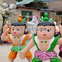 国产动漫卡通形象雕塑 金刚葫芦娃 景观雕塑
