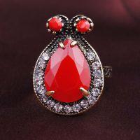 复古可爱兔子造型戒指多色可选 速卖通货源一件代发外贸