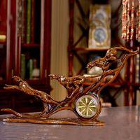 欧式金钱豹钟表树脂工艺品仿古创意礼品超静音座钟装饰摆件批发!