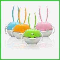 304不锈钢BERZ彩虹兔儿童餐具五件套宝宝卡通餐碗儿童餐具组合套装