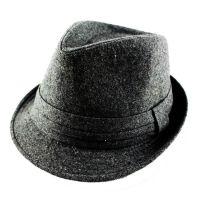 外贸工厂直销 男士英伦帽欧美绅士小礼帽 宽边毛呢毛毡定型礼帽