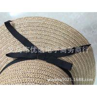 现货小辣椒新款沙滩草帽遮阳帽韩版可折叠旅游度假草帽女士大檐帽