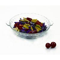 批发供应   8寸圆形钢化玻璃鲍鱼盘 珍珠水果糖果干果盘