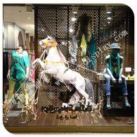玻璃钢仿真马雕塑 户外园林绿化摆件 动物模型马造型景 橱窗马道具