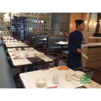 石英大理石餐桌定制 简约现代水晶石餐厅餐桌 运达来家具批发直销