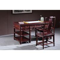 蕴秀阁家具酸枝木办公桌实木大班台中式仿古明清家具办公桌椅组合