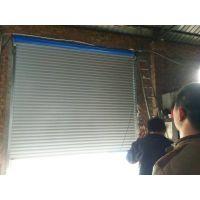 西按卷闸门厂供应金属手动彩钢型材卷帘门