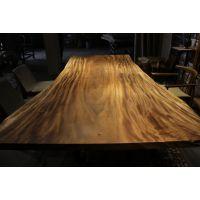 供应南美胡桃木艺术大板琥珀木花梨木餐桌茶桌书桌办公桌会议桌吧台原生态简约家具 270-158.122