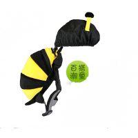 卡通可爱小蜜蜂书包幼儿防走失背包男女儿童帆布背包中可弘世厂家定制