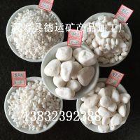 厂家批发 水磨石白石子 水族 园艺装饰用白石子 白色鹅卵石