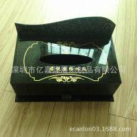 厂家直销亚克力纸巾盒 酒店用品 可放遥控器架 餐巾纸盒