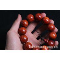 热销推荐 赞比亚血檀木2.0cm 相似印度小叶檀木手串 高油密手串