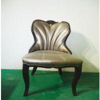 欧式实木餐椅(8)靠背椅餐厅酒店宴会椅创意椅子