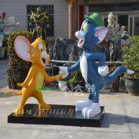 2015新版动画片猫和老鼠仿真雕塑玻璃钢室外大型卡通游乐场雕塑