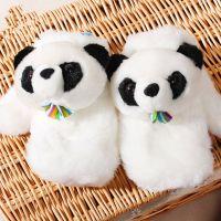 春节礼品可爱手套 大熊猫手套 卡通手套 加厚毛绒手套 冬季