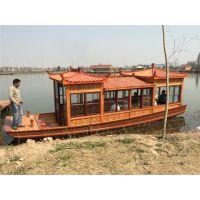 纯手工打造8米画舫船木船 电动画舫 服务类船 品质卓越 价格合理 支持客户来