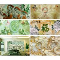 玻璃仿玉雕背景墙 玻璃装饰UV2513平板打印机 东方龙科厂家直销