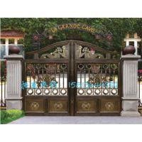 定制铝合金整套门、欧雅斯定制铝合金大门、金属庭院大门别墅庭院门
