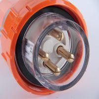 供应赛普供应SP-56P410防水插头 IP66插头 奥式四孔工业插头